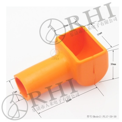 Soft rubber wire terminal cover